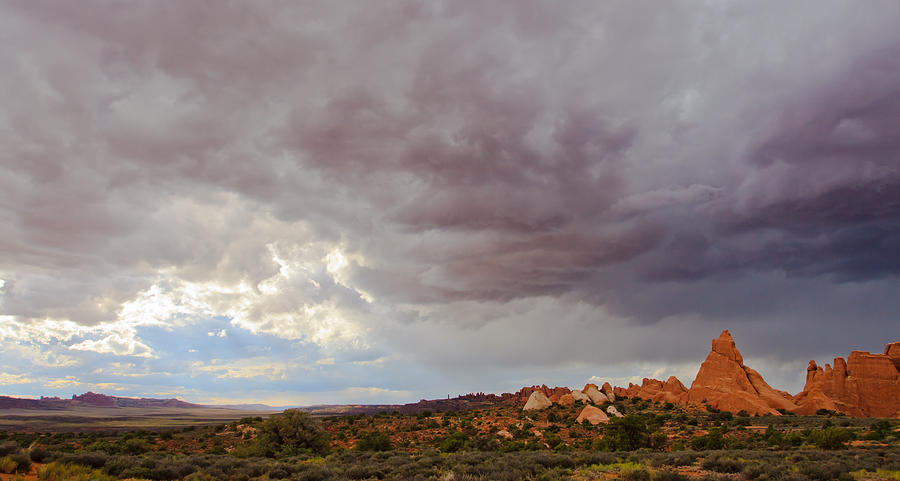 Storm Photograph - Passing Storm by Adam Pender