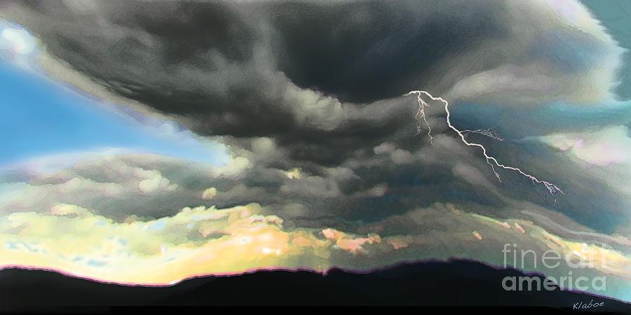 Cloud Digital Art - Passing Storm by David Klaboe