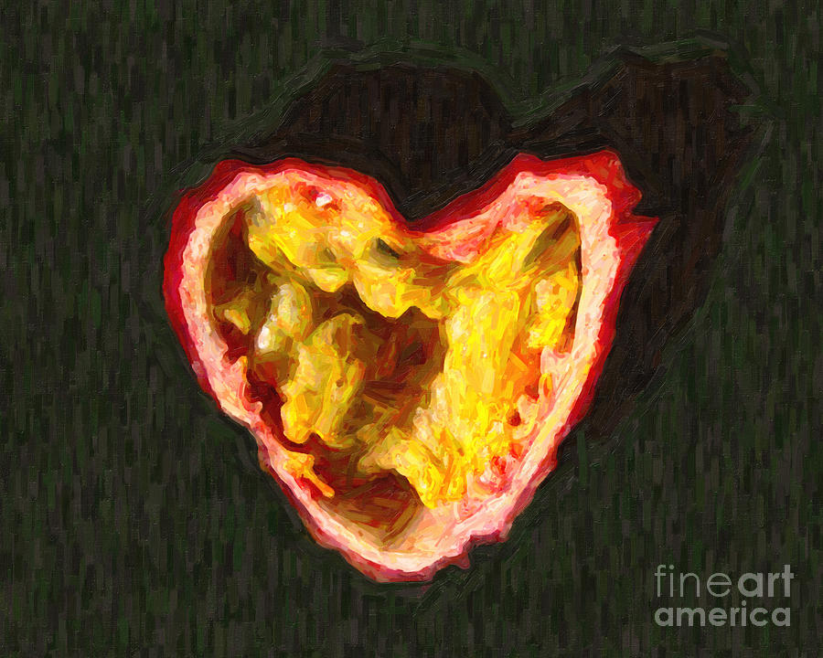 Passion Photograph - Passion Fruit by Wingsdomain Art and Photography