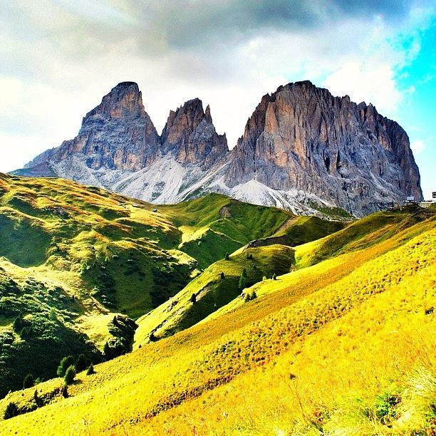 Mountain Photograph - Passo Sella by Luisa Azzolini
