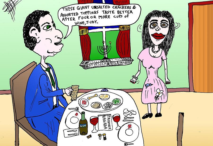 Passover seder cartoon drawing by yasha harari wine drawing passover seder cartoon by yasha harari m4hsunfo