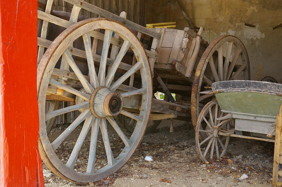 Carriage Photograph - Past Times by Christine Burdine