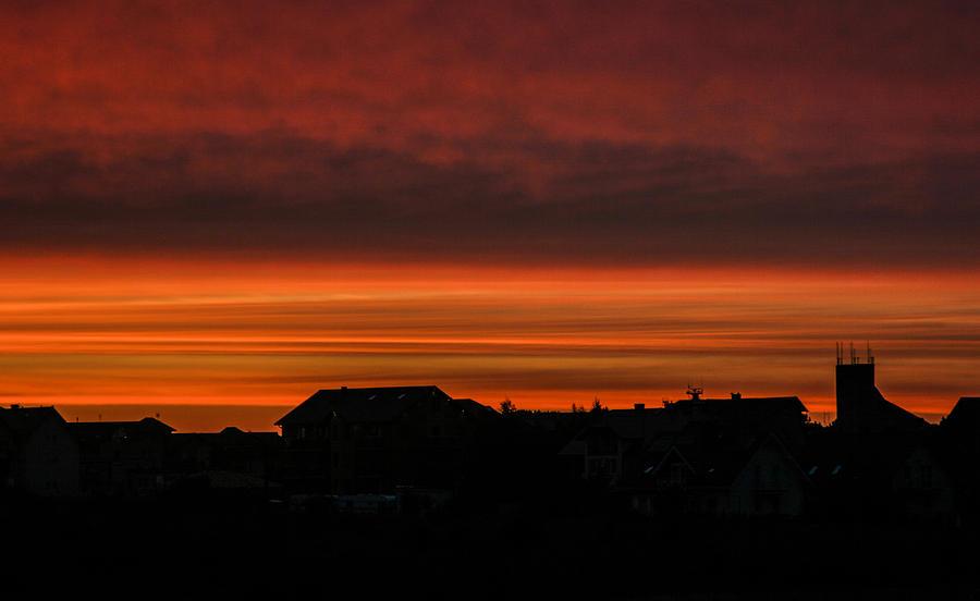 Sunset Photograph - Pastel by Beata Bienkowska