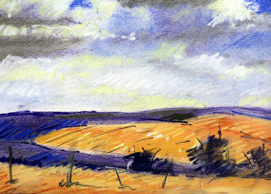 Pastel Landscape Painting by Jon Shepodd