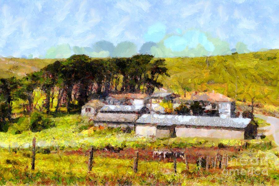 Landscape Photograph - Pastoral Cattle Ranch Landscape  . 7d16047 by Wingsdomain Art and Photography