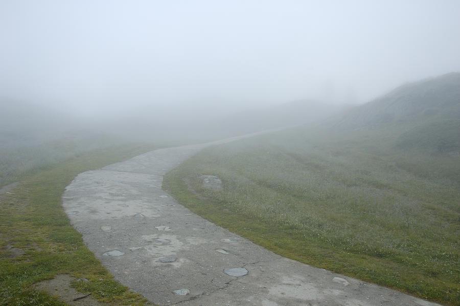 Fog Photograph - Path In The Fog by Matthias Hauser