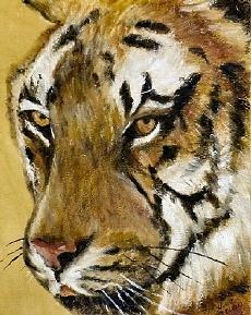 Animal Painting - Pathera tigris Tigris by Merle Blair