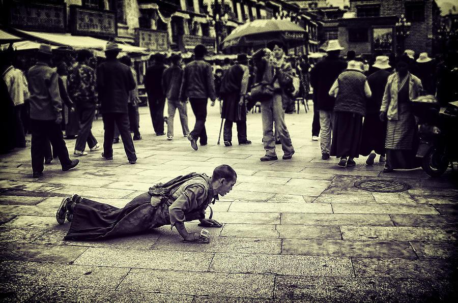 Man Photograph - Pathway To Awakening by Joan Carroll