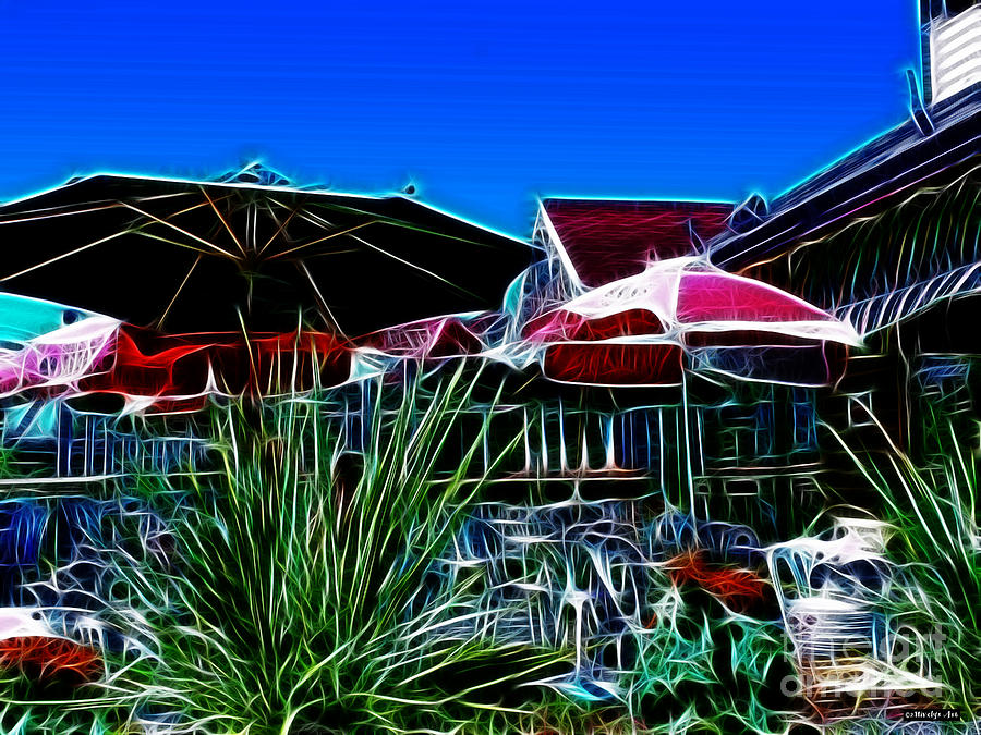 Sky Painting - Patio Umbrellas by Methune Hively