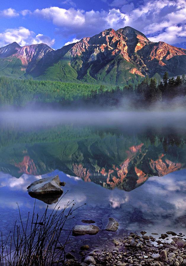 Patricia Lake Photograph - Patricia Lake Banff Canada by Dave Mills