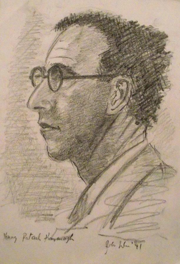 Irish Writer Drawing - Patrick Kavanagh by John  Nolan