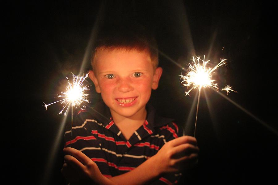 Bang Photograph - Patriotic Boy by Kelly Hazel