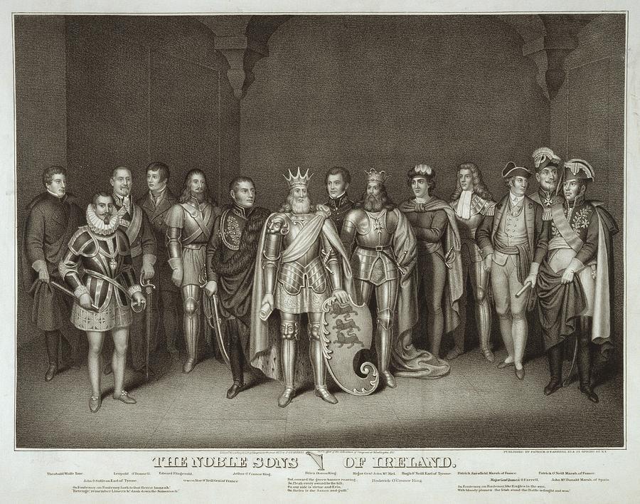 History Photograph - Patriotic Irish-american Print Ca.1875 by Everett
