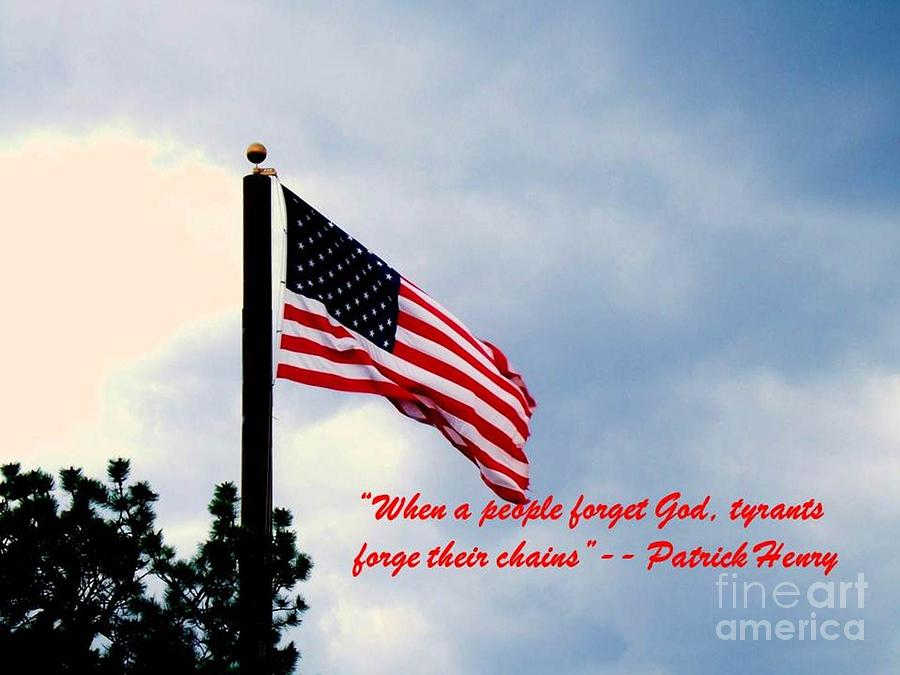 Flag Photograph - Patriotism by Donna Parlow