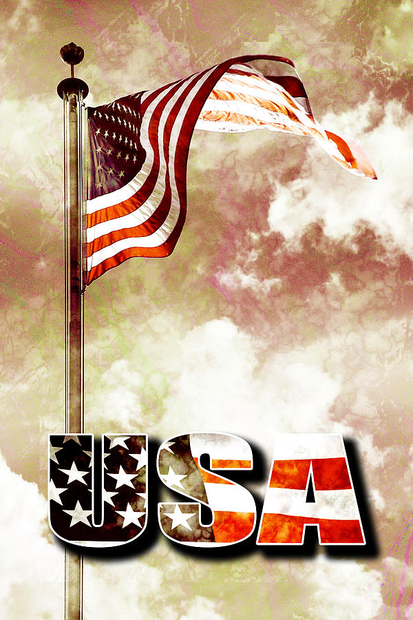 4 Digital Art - Patriotism The American Way by Phill Petrovic