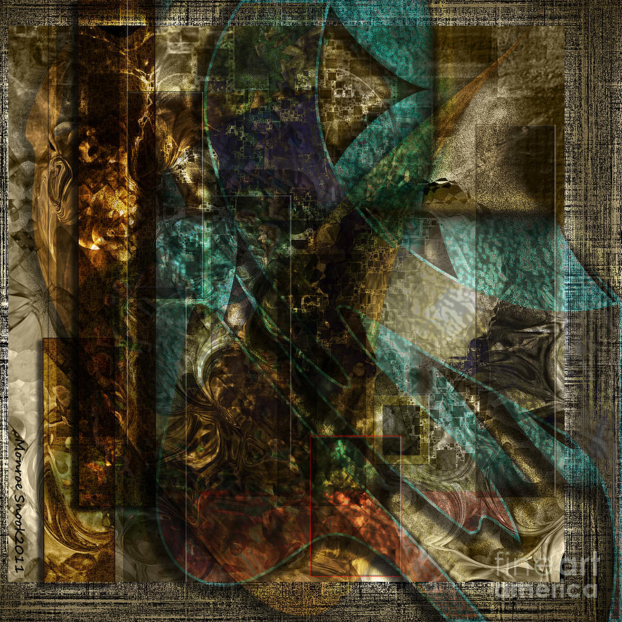 Abstraction Digital Art - Pattern Down by Monroe Snook