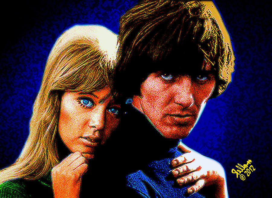 Layla Digital Art - Pattie Boyd And George Harrison by Che Rellom