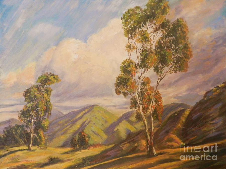 California Impressionism Painting - Paul Grimm California Impressionism by Sunanda Chatterjee