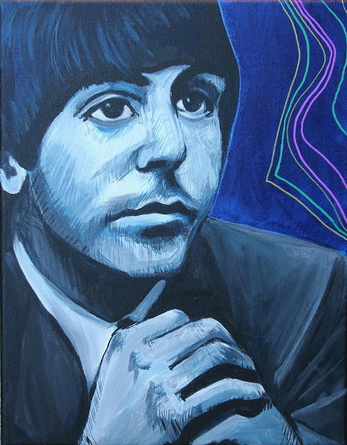 Beatles Painting - Paul McCartney by Kate Fortin