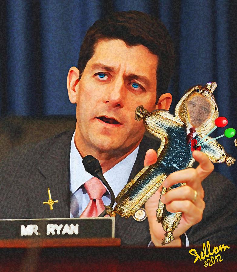 Paul Ryan Digital Art - Paul Ryan Voodoo Politics by Che Rellom