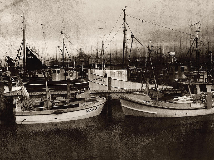 Old Photograph - Peace And Quiet At The Harbour by Florin Birjoveanu