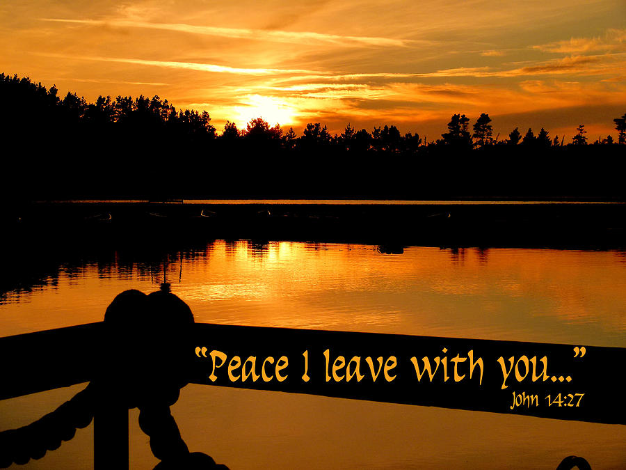 Cindy Photograph - Peace I Leave With You by Cindy Wright