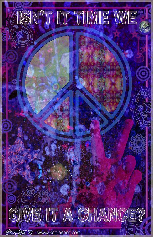 Peace Digital Art - Peace by John Goldacker
