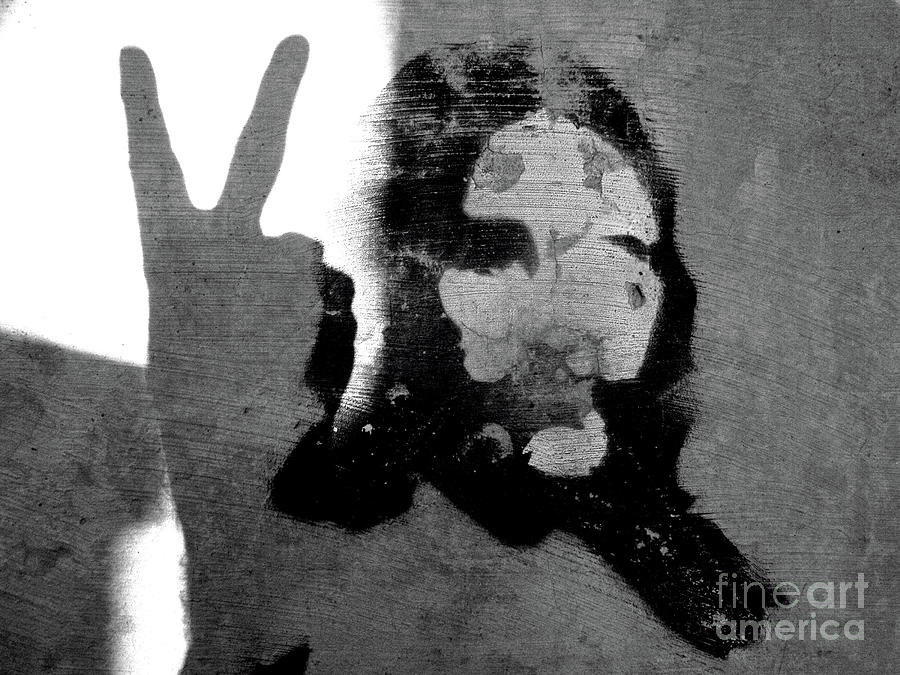 Hippie Photograph - Peace Man Peace by Joe Jake Pratt