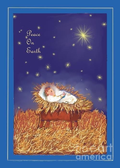 Jesus Digital Art - Peace On Earth by Dessie Durham