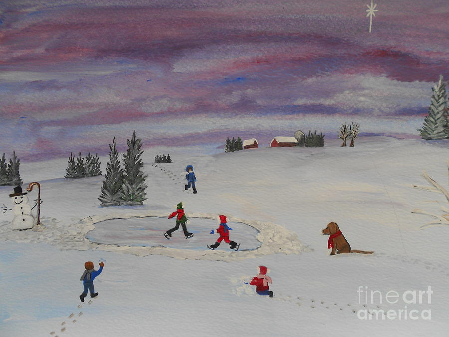 Painting Painting - Peace On Earth...goodwill Toward Men by Barbara McNeil