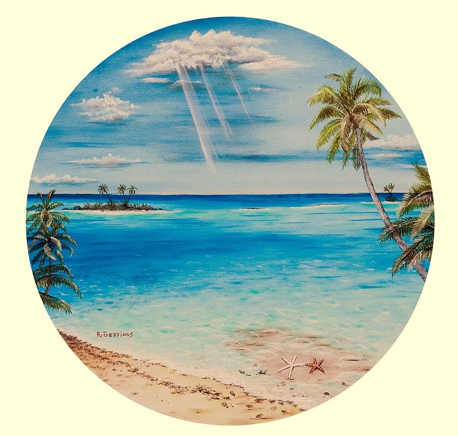 Palm Painting - Peace by Riley Geddings