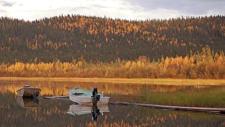 Alaska Photograph - Peaceful Harding Lake by Jim and Kim Shivers