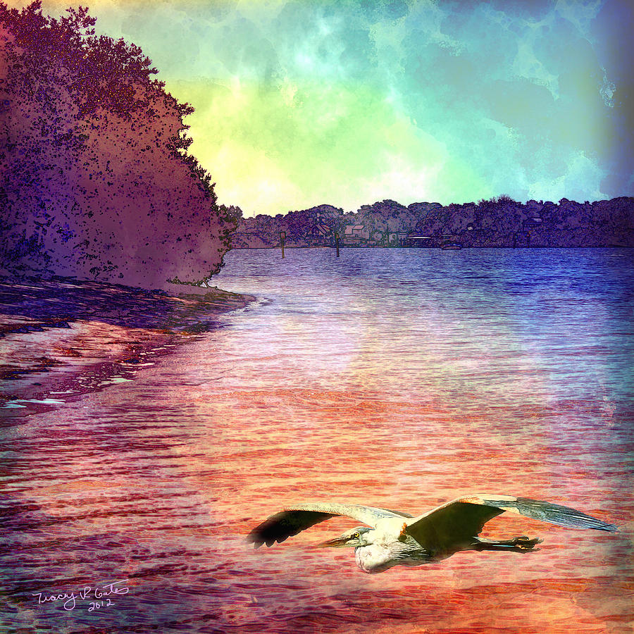 Landscape Digital Art - Peaceful Morning by Tracey R Gates