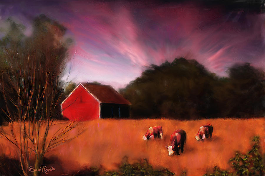 Landscape Painting - Peaceful Pasture by Suni Roveto