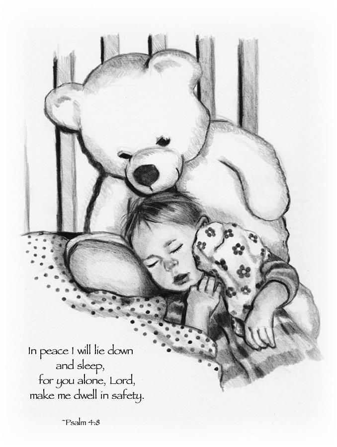 Baby Drawing - Peaceful Sleep by Joyce Geleynse