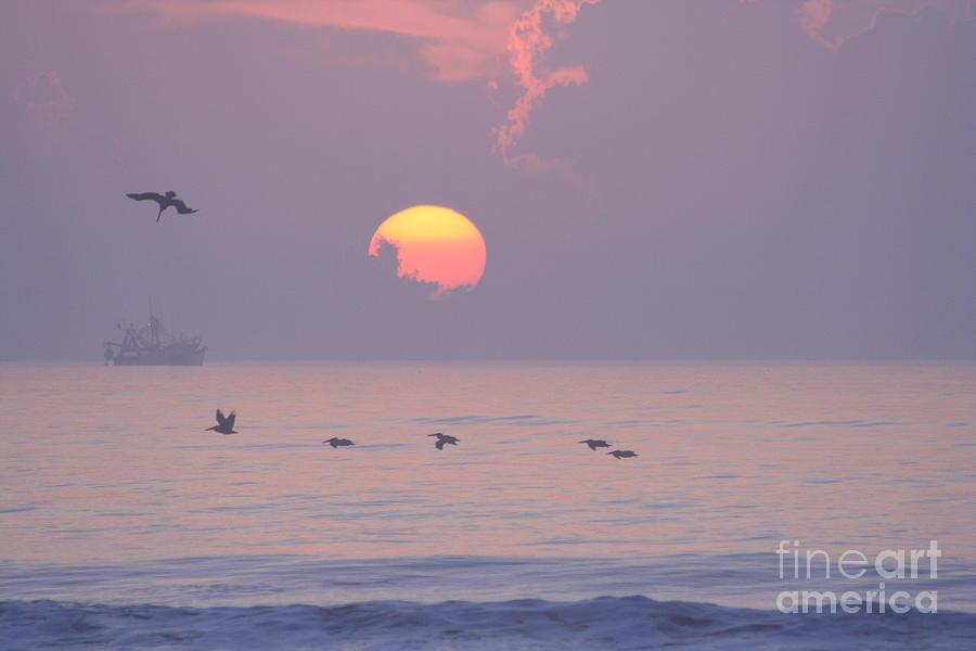 Ocean Photograph - Peaceful Sunrise by Clint Day
