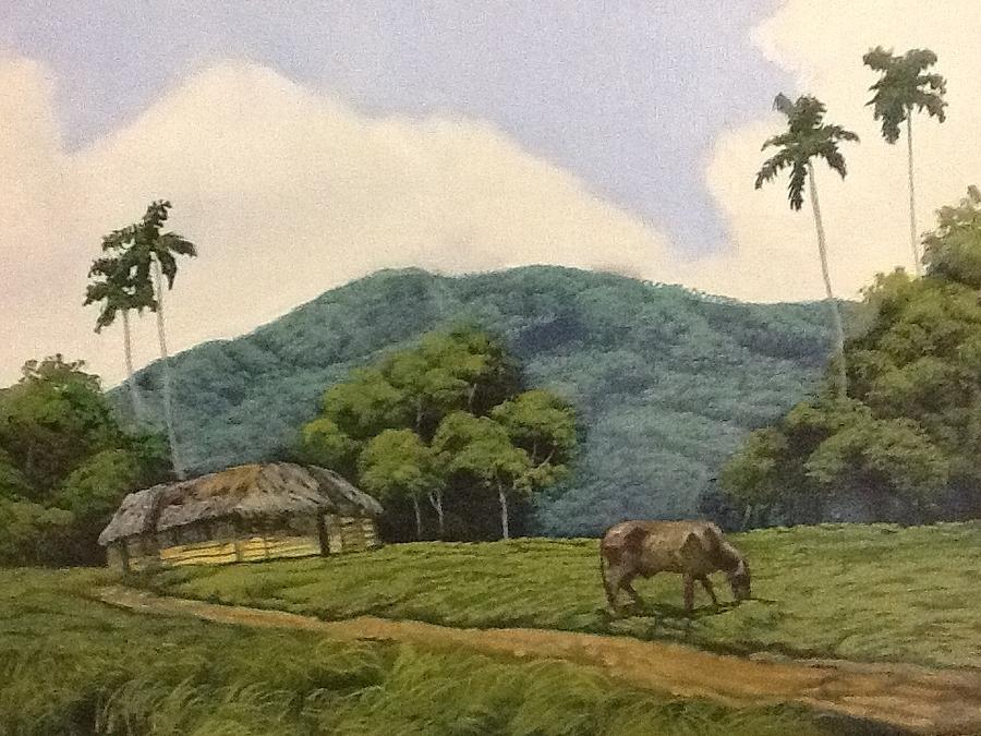 Cuban Landscape Painting - Peaceful Surroundings by Carlos Rodriguez Yorde
