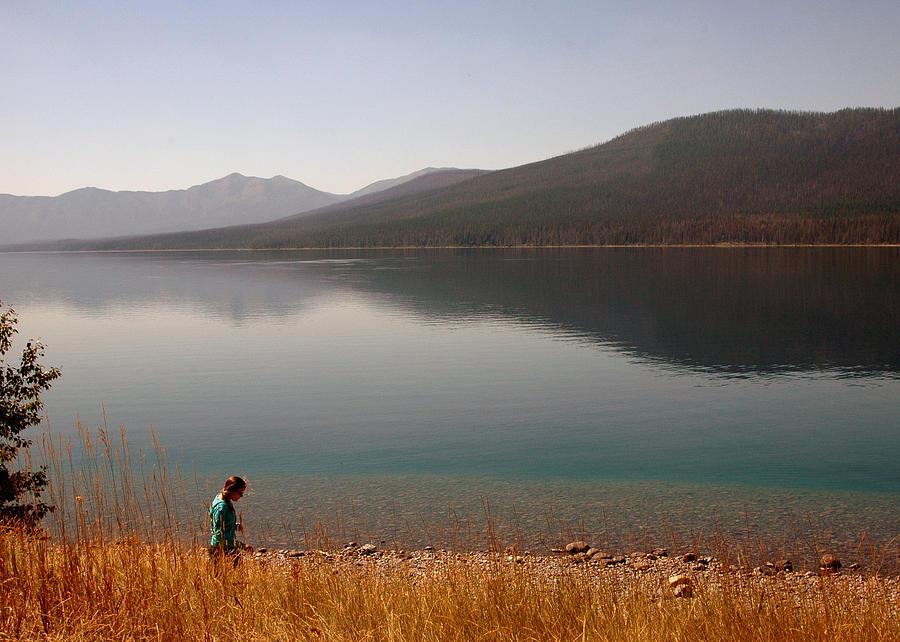 Lake Photograph - Peaceful Walk by Jonathan Schreiber