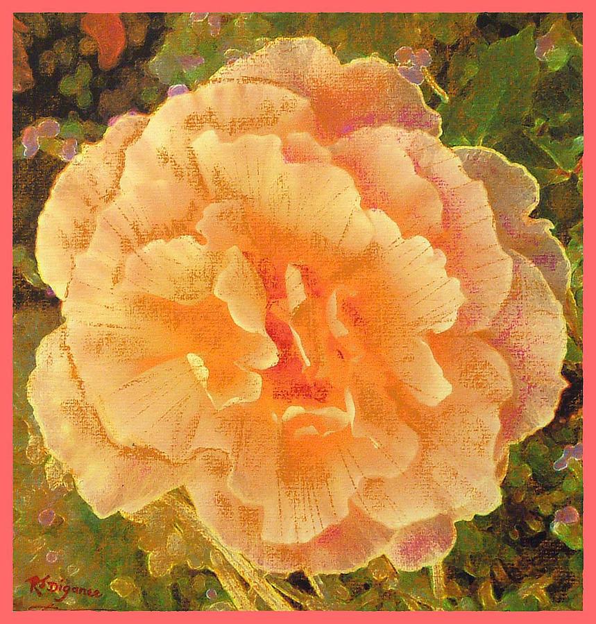 Peach Begonia Painting
