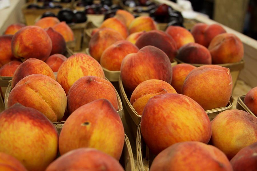 Peaches Photograph - Peaches Ala Mollys Market by Theresa Johnson
