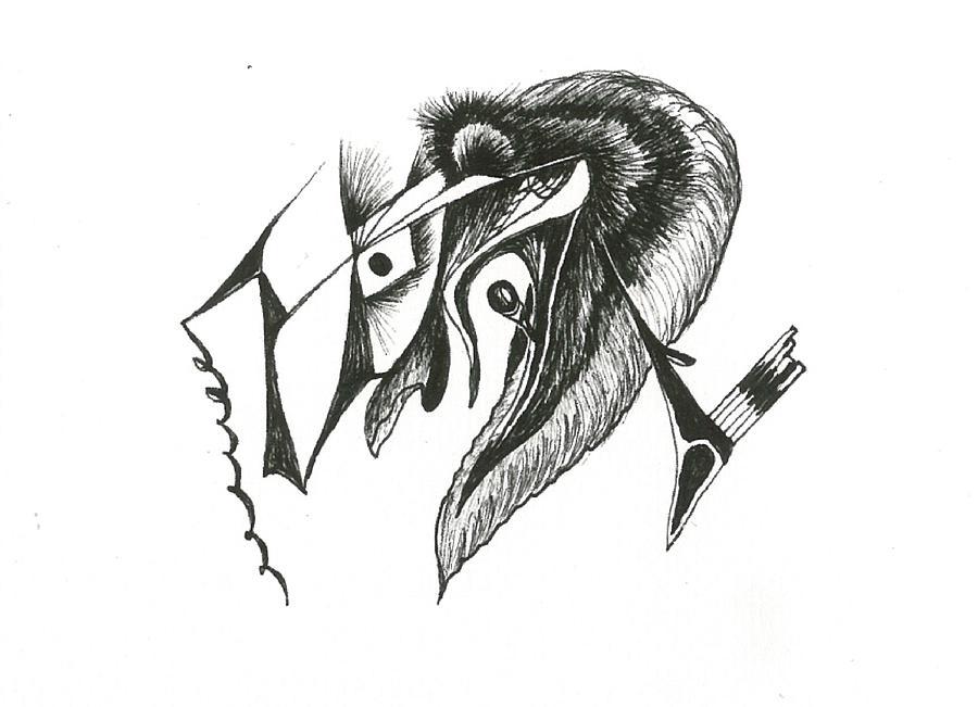 Peacock Drawing by Dipak Parmar