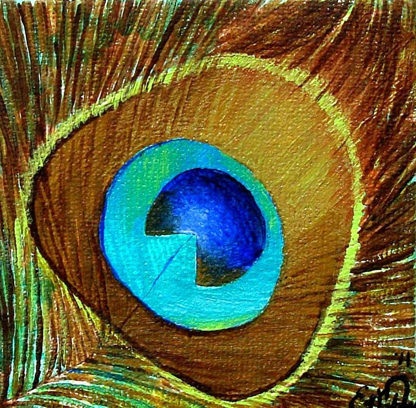 Peacock Feather 1 Painting By Oddball Art Co By Lizzy Love