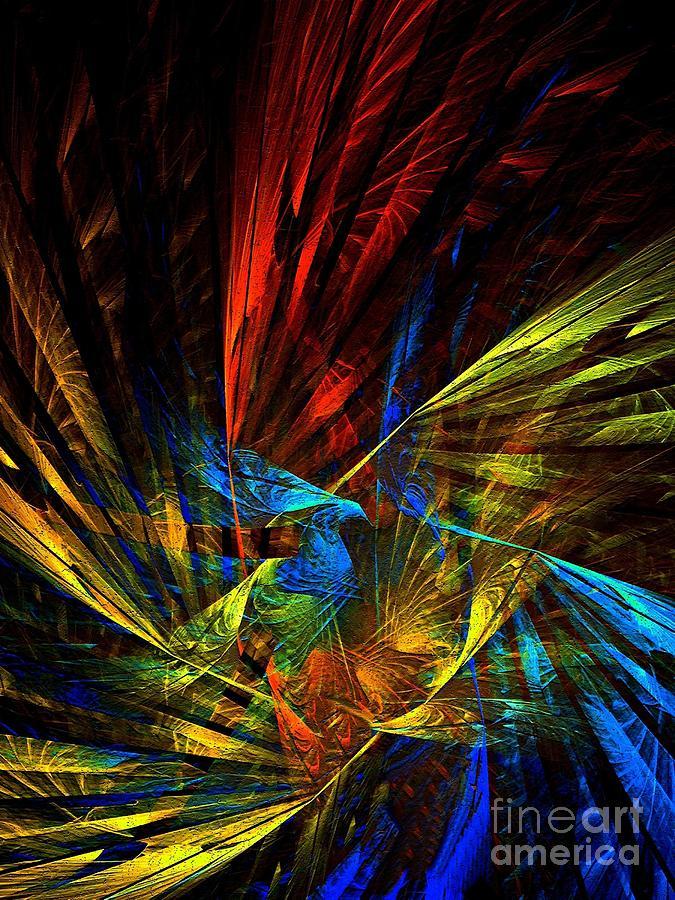 Peacock Digital Art - Peacock by Klara Acel