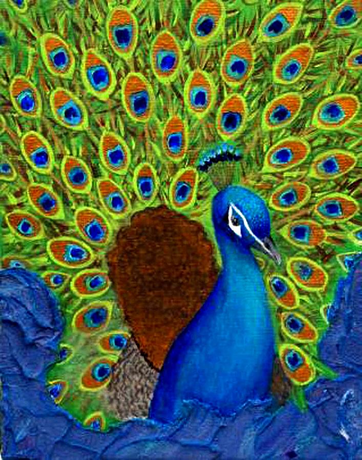 Peacocks Delight Painting by The Art With A Heart By Charlotte Phillips