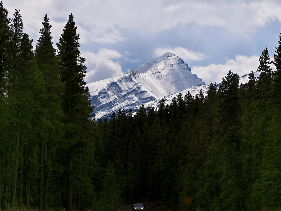 Alberta Photograph - Peaking Peak by Roderick Bley
