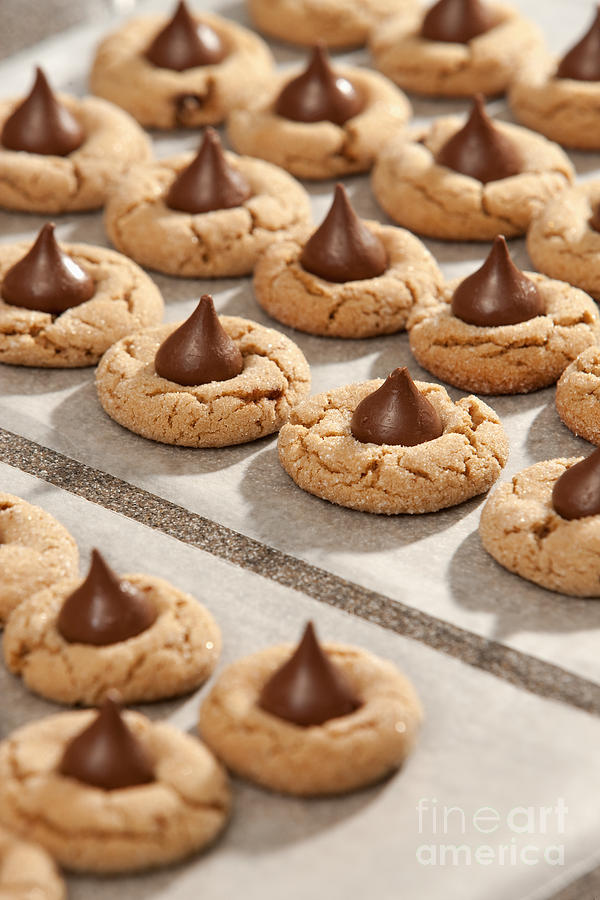 Bake Photograph - Peanut Blossom Cookies by Will & Deni McIntyre