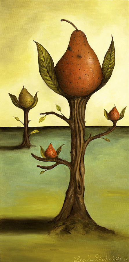 Pear Painting - Pear Trees by Leah Saulnier The Painting Maniac