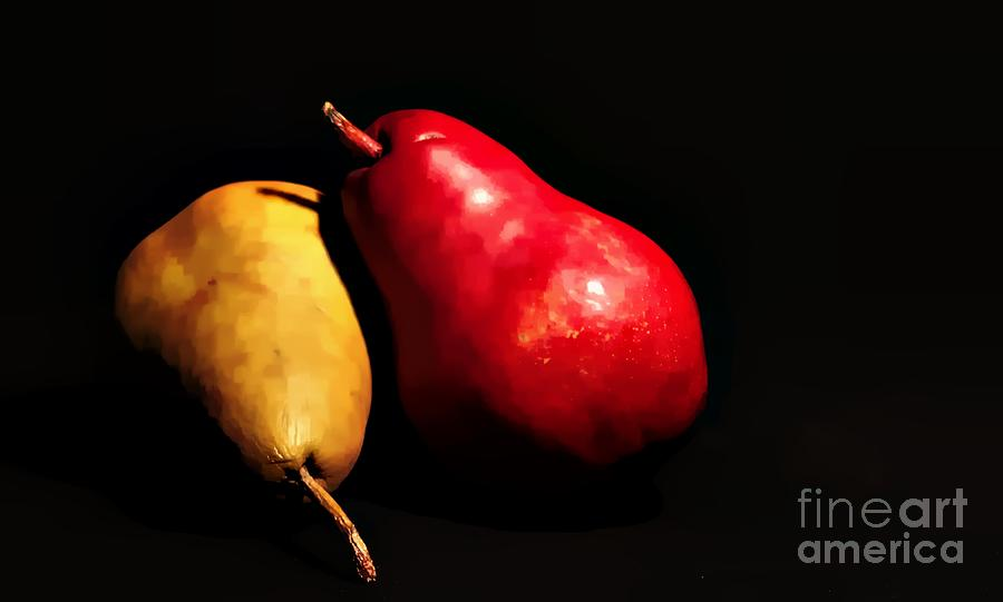 Pear Pears Fruit Tree Food Digital Art - Peared Up by David Taylor
