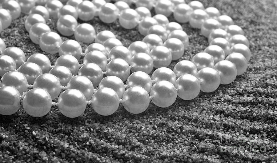 Pearls Photograph - Pearls And Sand by Gabriela Insuratelu