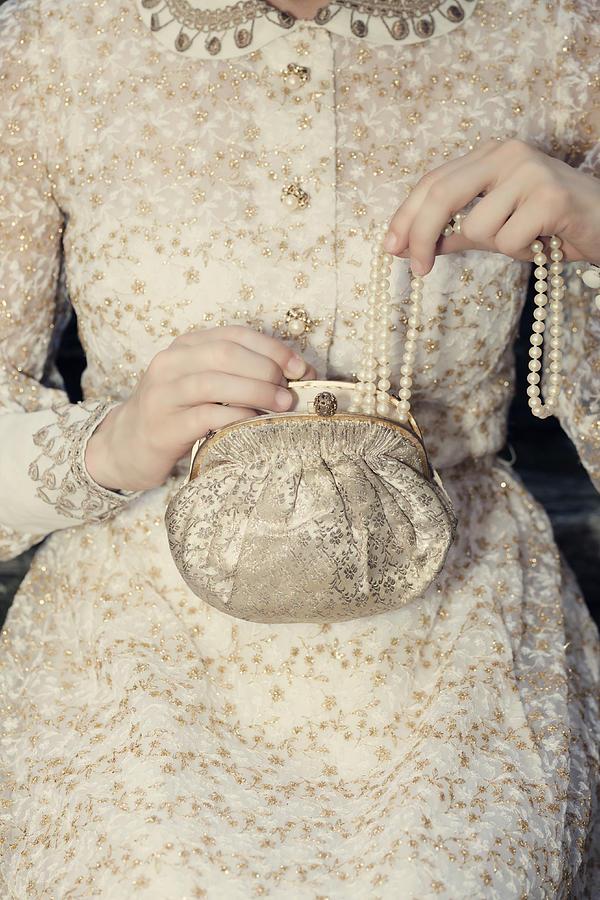 Female Photograph - Pearls by Joana Kruse